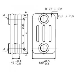 Radiador TESI4-1500 10ELEM RT415001001 Irsap
