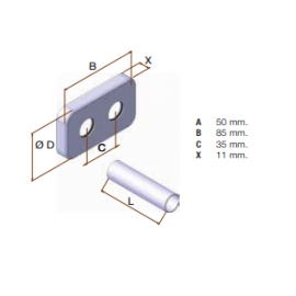 Kit cubretubo EJE38 553A1601 Israp