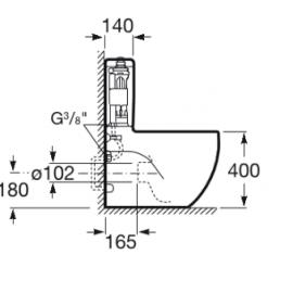 Cisyterna doble descarga Meridian A341242000 Roca