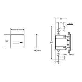 Fluxor electrónico urinario Sentronic-s A5A9602C00 Roca