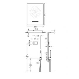 Kit electrónico de ducha 09286304 Tres