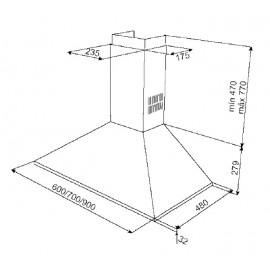 Campana extractora Inox DBB60 40460440 Teka