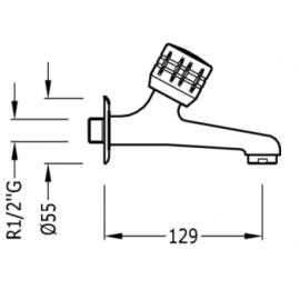 Grifo para  para fregadero 02352001F Tres