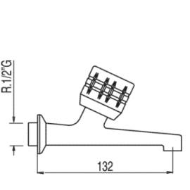 Grifo para para fregadero 123520F Tres