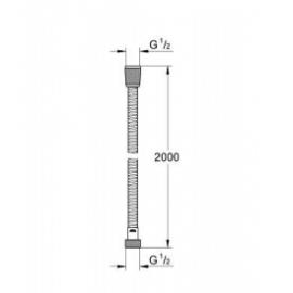 Flexo metálico 2 m 28140000 Grohe
