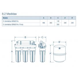 Osmosis domestica 5 etapas genus pro 50 304040-01 Cabel