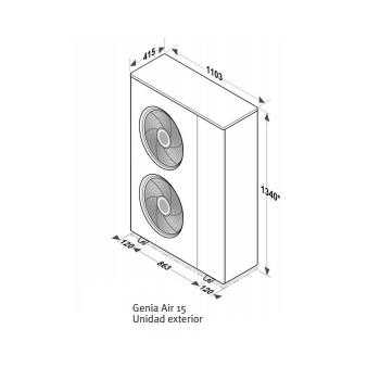 Pack Genia monobloc 0010023077 Saunier Duval