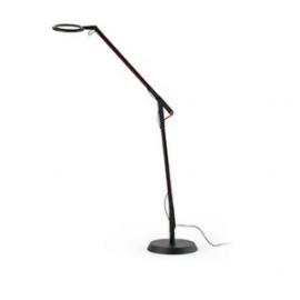 Lámpara de pie negra Halo Faro