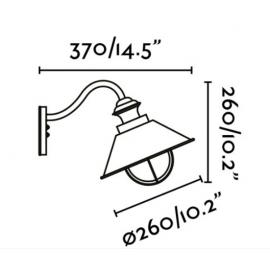 Lámpara de aplique blanco y cobre Náutica Faro