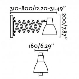 Petra lámpara extensible cromo Faro