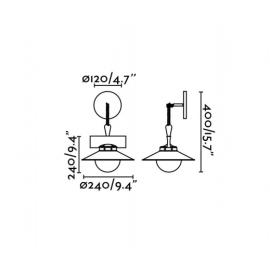Lámpara de aplique marrón óxido Nudos Faro