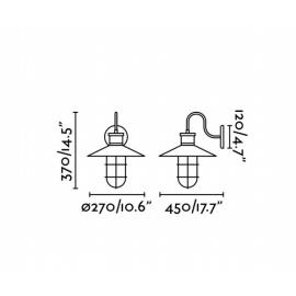 Lámpara de aplique negro Marina Faro