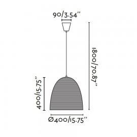 Lámpara colgante marrón Liana Faro