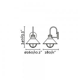 Lámpara de aplique marrón óxido Náutica-P Faro