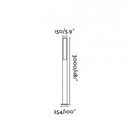 Lámpara de farola Cartago gris oscuro Faro