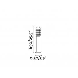 Lámpara baliza Verano-M negro Faro