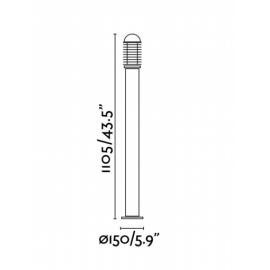 Lámpara baliza Verano-G negro Faro
