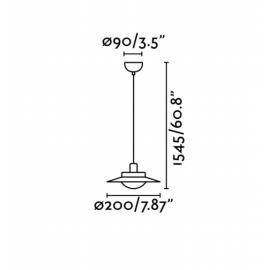 Lámpara colgante Side LED blanco Faro