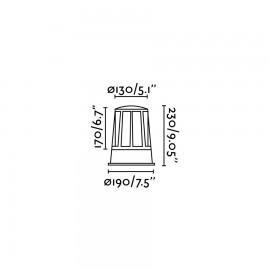 Lámpara baliza Surat gris oscuro Faro