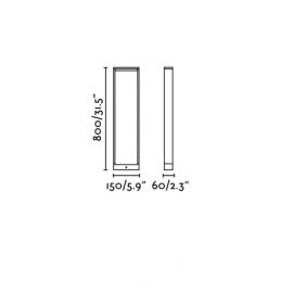 Lámpara de baliza ALP LED gris oscuro h80cm Faro