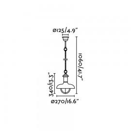 Lámpara colgante Estoril-P marrón óxido Faro