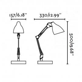 GRU lámpara flexo blanco Faro