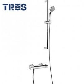 Conjunto de ducha termostático  Flat Tres