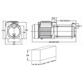 Grupo de presión CABEL GP-BM/AQUA 0,75 CV