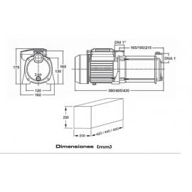 Grupo de presión CABEL GP-BM 83 /AQUA 0,75 CV