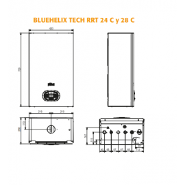 Caldera BlueHelix Tech RRT 34Kw Gas natural Ferroli