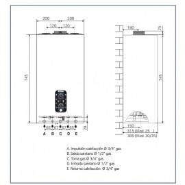 Caldera Mira Advance System 35 FF Gas Nat.Chaffoteaux