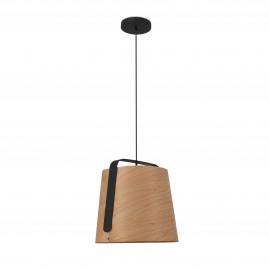 Lámpara colgante madera y negro Stood LED Faro