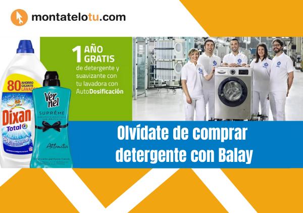 Lavadoras con autodosificación - Detergente incorporado